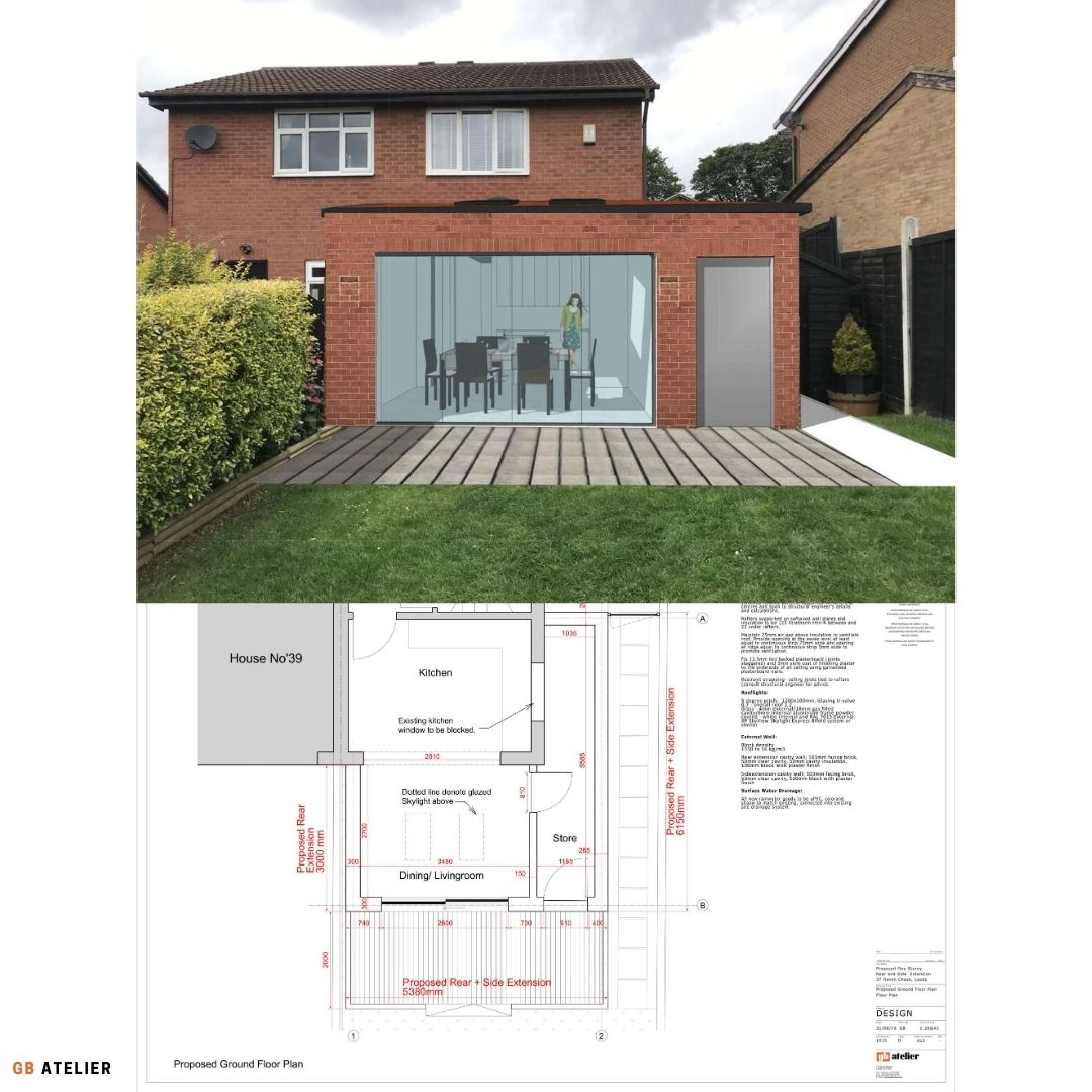 Single storey rear extension and internal alteration
